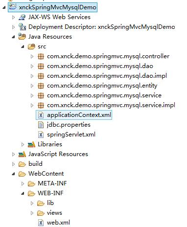 构建第一个SpringMVC4+Hibernate4+MySQL项目